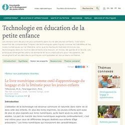 Technologie en éducation de la petite enfance : le livre numérique comme outil d'apprentissage