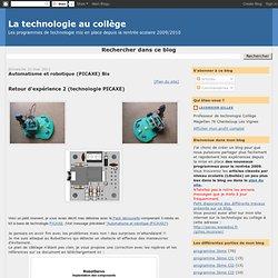La technologie au collège: Automatisme et robotique (PICAXE) Bis