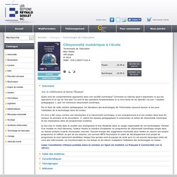 Catalogue > Technologie de l'éducation > Citoyenneté numérique à l'école (ISBN 978-2-89377-510-4)