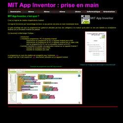 La technologie au collège - MTI App Inventor - Prise en main