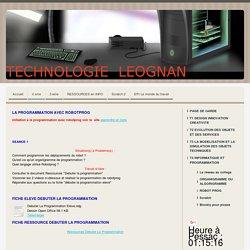 ROBOT PROG - Technologie Collège Leognan