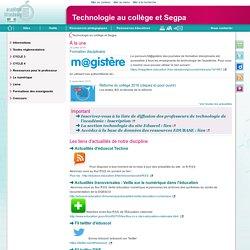 Technologie au collège et Segpa