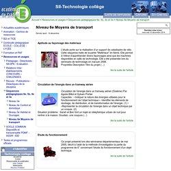 [SII-Technologie collège] Niveau 6e Moyens de transport