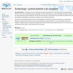 Technologie : système hybride à air comprimé