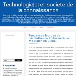 Technologie(s) et société de la connaissance