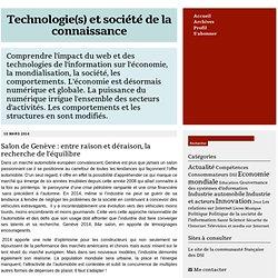 Technologie(s) et société de la connaissance : Actualité