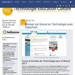 Réviser son brevet en Technologie avec Digischool - Technologie Éducation Culture