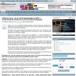 L'Etat de Java : où en est la technologie en 2014 ? Deuxième partie de l'entretien avec le CTO et les experts de DigitasLBi