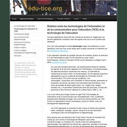 Technologie de l'éducation et TICE - Edu-TICE