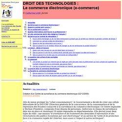 Droit des technologie : le commerce électronique (e-commerce)