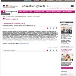 Art, science, technologie (A.S.T) - Ministère de l'éducation nationale
