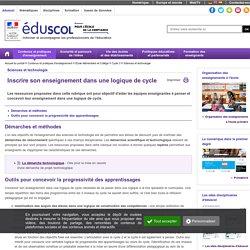 Sciences et technologie - Inscrire son enseignement dans une logique de cycle en ST C3