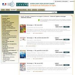 FORMULAIRE SCEREN : Librairie de l'éducation : Secondaire : Sciences de l'ingénieur, technologie industrielle, mécanique