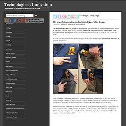 Un téléphone qui reste tactile à travers les tissus