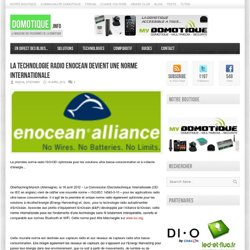 La technologie radio EnOcean devient une norme internationale