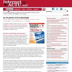 La vie privée et la technologie