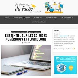 L'ESSENTIEL SUR LES SCIENCES NUMÉRIQUES ET TECHNOLOGIE