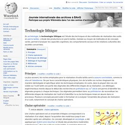 Technologie lithique