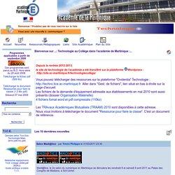 ...: Technologie au Collège dans l'académie de Martinique :...