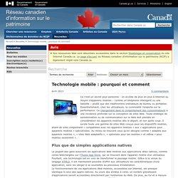 Technologie mobile : pourquoi et comment