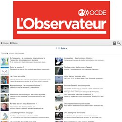 Science & technologie - Observateur OCDE