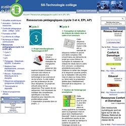 [SII-Technologie collège] Ressources pédagogiques (cycle 3 et 4, EPI, AP)
