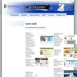 Site de sciences et technologie au primaireLiens web - Site de sciences et technologie au primaire