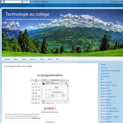 Technologie au collège: La programmation d'un robot