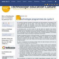 Technologie programmes du cycle 4