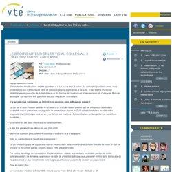 Le droit d'auteur et les TIC au collégial. 3. Diffuser un DVD en classe