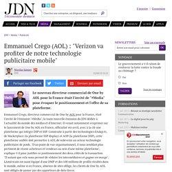 """""""Verizon va profiter de notre technologie publicitaire mobile"""""""