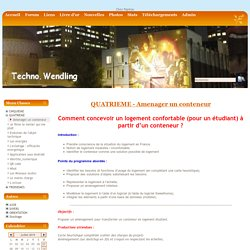 site technologie collège - Amenager un conteneur