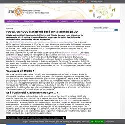 FOVEA, un MOOC d'anatomie basé sur la technologie 3D - Institut des Sciences et Techniques de la Réadaptation (ISTR) - Université Lyon 1