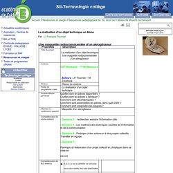 SII-Technologie collège - La réalisation d'un objet technique en 6ème - Aéroglisseur