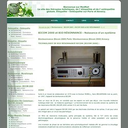 Technologie de bio resonnance bicom (bicom 2000).