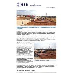 Une technologie spatiale permet de fournir de l'eau potable au Maroc / France