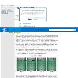 Technologie de stockage rapide Intel® (Intel® RST) — RAID 0, 1, 5, 10, matrice RAID, RAID-Ready