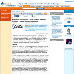 www.droit-technologie.org/actuality-1477/protection-des-logiciels-quels-sont-les-elements-proteges-quand-pe.html?utm_source=feedburner&utm_medium=feed&utm_campaign=Feed:+droit-technologie/RnCH+(Les+actus+du+Droit+des+Nouvelles+Technologies)