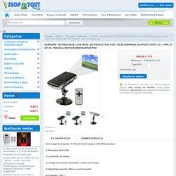 Dernière technologie LCOS MINI LED Projecteur avec télécommande, support carte SD / MMC et AV IN, Travailler pour ordinateur por - SHOP2TOUT