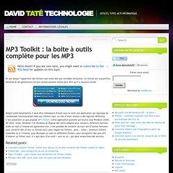 MP3 Toolkit : boite à outils complète