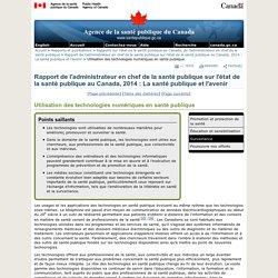 ASPC 12/09/14 Utilisation des technologies numériques en santé publique