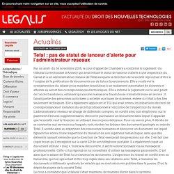 Tefal : pas de statut de lanceur d'alerte pour l'administrateur réseaux