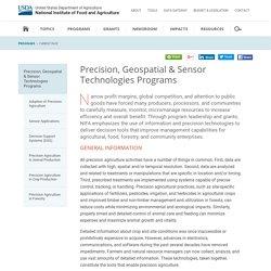 Precision, Geospatial & Sensor Technologies Programs