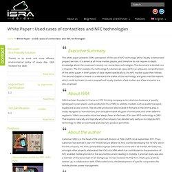 Livre Blanc : Usage des technologies sans contact et NFC dans les applications de fidélité « isra, plastic cards isra, plastic cards
