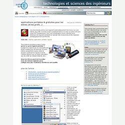 technologies et sciences des ingénieurs - applications portables & gratuites pour les élèves (et les profs...)