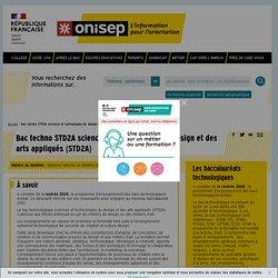Bac techno STD2A sciences et technologies du design et des arts appliqués
