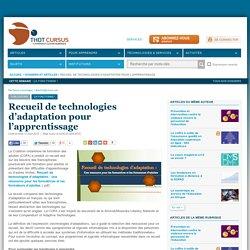 Recueil de technologies d'adaptation pour l'apprentissage