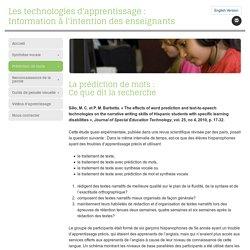 Les technologies d'apprentissage : Information à l'intention des enseignants