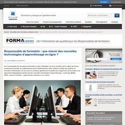 Responsable de formation : que retenir des nouvelles technologies d'apprentissage en ligne ?