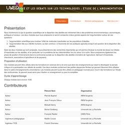 LA SOCIÉTÉ ET LES DÉBATS SUR LES TECHNOLOGIES : ÉTUDE DE L'ARGUMENTATION